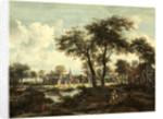 Dutch, Village near a Pool, c. 1670 by Meindert Hobbema