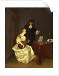 The Music Lesson, c. 1670 by Studio of Gerard ter Borch the Younger