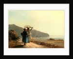 Two Women Chatting by the Sea, St. Thomas, 1856 by Camille Pissarro