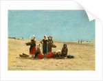 Women on the Beach at Berck, 1881 by Eugène Boudin