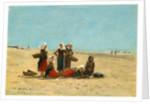 Women on the Beach at Berck, 1881 by Eugène Boudin