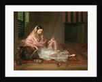 Muslim Lady Reclining An Indian Girl with a Hookah, by Francesco Renaldi