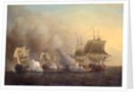 Action off the Cape of Good Hope, Samuel Scott, ca. 1702-1772 by Samuel Scott