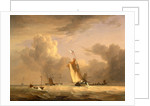 Fishing Smack and Other Vessels in a Strong Breeze Shipping in a Choppy Sea; Storm Approaching by Joseph Stannard