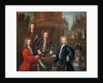 Elihu Yale, the 2nd Duke of Devonshire, Lord James Cavendish, Mr. Tunstal, and a Page by Anonymous