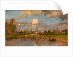 Oxford from the River with Christ Church in the Foreground View of Oxford by William Turner of Oxford