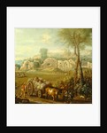 Haycart Passing a Ruined Abbey by John Wootton