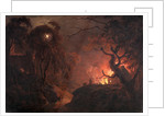 Cottage on Fire at Night by Joseph Wright of Derby