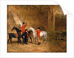 Foxhunting Scene Fox Hunting: Two Gentlemen with a Groom The Englington Brothers by Benjamin Marshall