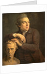 Joseph Nollekens with His Bust of Laurence Sterne by John Francis Rigaud