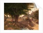 Village Scene (possibly Colickey Green, Essex) by Jessica Landseer