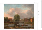 A River Landscape, possibly a View from the West End of Rochester Bridge by John Inigo Richards
