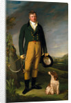 Portrait of a Man An Unknown Man with his Dog A Gentleman with his Dog by William Owen