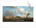 London, Westminster from Lambeth, with the Ceremonial Barge of the Ironmongers' Company by Samuel Scott