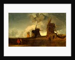 Drainage Mills in the Fens, Croyland, Lincolnshire by John Sell Cotman