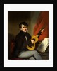 Portrait of a Man Playing a Guitar A Man Playing a Guitar by George Chinnery