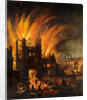 The Great Fire of London, with Ludgate and Old St. Paul's by Anonymous