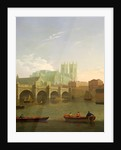 Westminster Abbey and Bridge by Joseph Farington