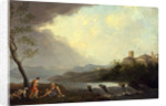 An Imaginary Italianate Landscape with Classical Figures and a Waterfall by Thomas Jones