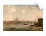 London, St. Paul's and Blackfriars Bridge by William Marlow