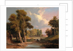 A Wooded River Landscape with Fishermen by James Arthur O'Connor