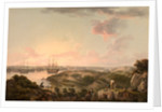Port Mahon, Minorca with British Men-of-War at Anchor by John Thomas Serres