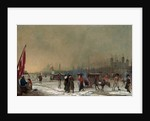 Frost on the Thames The Thames Frozen Over, near the Tower of London, London Samuel Collings by Samuel Collings