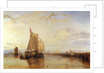 Dort or Dordrecht: The Dort packet-boat from Rotterdam, The Netherlands becalmed by Joseph Mallord William Turner