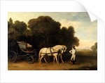 Phaeton with a Pair of Cream Ponies and a Stable-Lad by George Stubbs