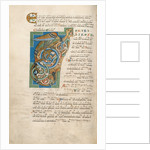 Decorated Initial T by Anonymous