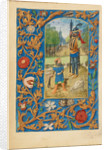 David and Goliath by Master of the Dresden Prayer Book