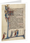 Initial E: David Playing the Harp by Bute Master