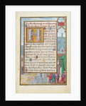 Border with a Captured Prophet before a Prince or King by Simon Bening