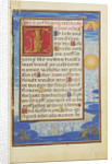 Border with the Adoration of the Name of Jesus by Simon Bening