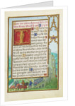 Border with Michal Helping David to Escape from Saul by Simon Bening