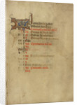 Calendar Page by Anonymous
