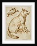 A Wolf and Two Doves by Sinibaldo Scorza