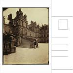 Fountainebleau - Cour des Adieux by Eugène Atget