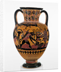 Chalkidian Black-Figure Neck Amphora by the Inscription Painter