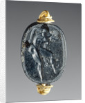 Engraved Scaraboid inset into a Ring by Epimenes