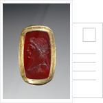 Engraved Gem Inset Into a Hollow Ring by Anonymous