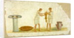 Fragment of a Fresco Panel with a Meal Preparation by Anonymous