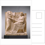 Grave Naiskos of a Seated Woman with Two Standing Women by Anonymous