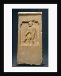 Grave Stele of Moschion with his Dog by Anonymous