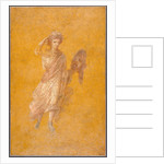Fragment of a Yellow Fresco Panel with Muse by Anonymous