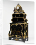 Cartonnier with Bout de Bureau and Clock by Bernard II van Risenburgh