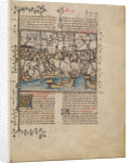 A Battle from the Trojan War by First Master of the Bible historiale of Jean de Berry