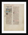 The Fleet of Hannibal Sailing to Spain by First Master of the Bible historiale of Jean de Berry