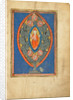 A Man Enthroned within a Mandorla in a Tree by Anonymous