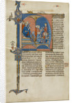 Initial N: King James I of Aragon Overseeing a Court of Law by Anonymous
